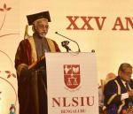 Shri M. Hamid Ansari, Hon'ble Vice President of India delivering the 25th Annual Convocation Address of National Law School of India University (NLSIU), in Bengaluru on August 06, 2017.
