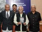 """Shri M. Hamid Ansari, Vice President of India, releasing the Book titled """"Political Violence and the Police in India"""" authored by Shri K.S. Subramanian in New Delhi on October 29, 2007"""