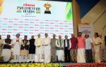 Shri M. Hamid Ansari, Hon'ble Vice President of India with the awardees of the Lokmat Parliamentary Awards 2017, in New Delhi on July 19, 2017. The former Prime Minister, Dr. Manmohan Singh, the former Governor of Punjab, Shri Shivraj Patil, the former Union Minister for Urban Development, Housing & Urban Poverty Alleviation and Information & Broadcasting, Shri M. Venkaiah Naidu, the Union Minister for Road Transport & Highways and Shipping, Shri Nitin Gadkari and Members of Parliament are also seen.